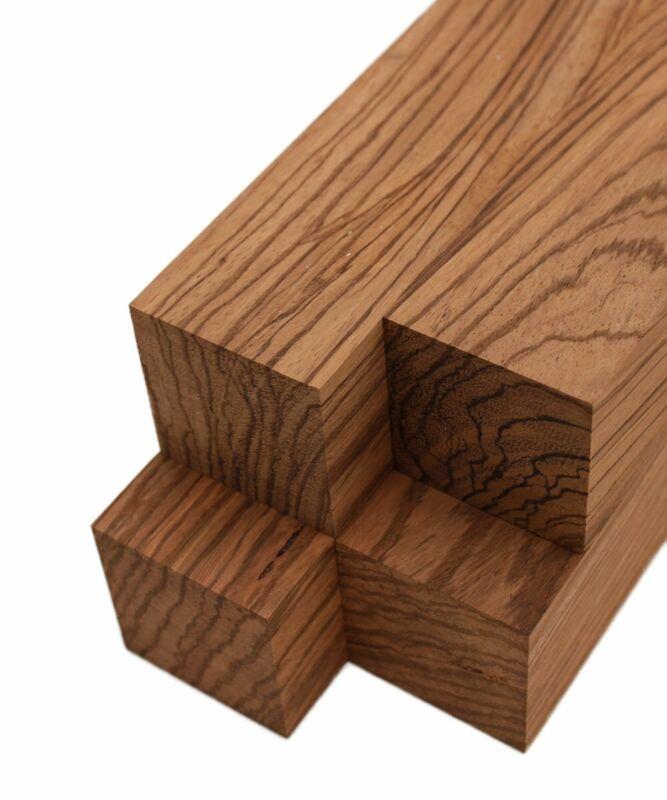 "Zebrawood Lumber Square Turning Blanks (4pc) (2"" x 2"")"