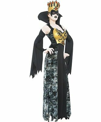 Ladies Phantom Halloween Queen Fancy Dress - Small uk 8 -10