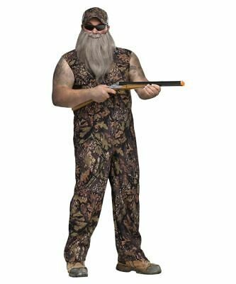 Red Neck Costume ( Red Neck Duck Hunter Adult overall Costume Std or plus)