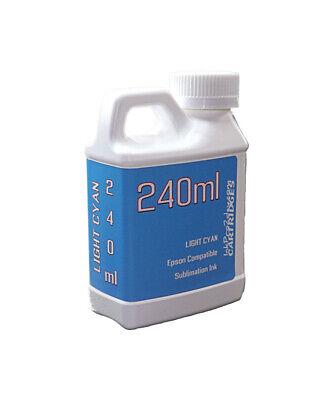 Dye Sublimation Ink Light Cyan 240ml For Epson Artisan 1430 Printer Non-oem