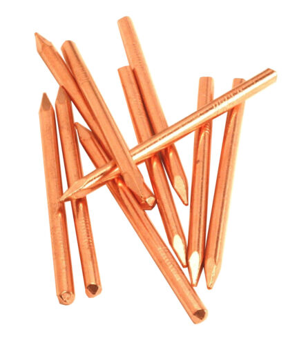 20d Copper Flintknapping Nails - 10 Nails