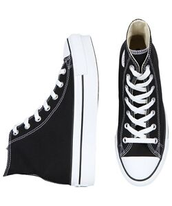 NEW-Converse-Chuck-Taylor-All-Star-Platform-Hi-Sneaker-Black-Footwear