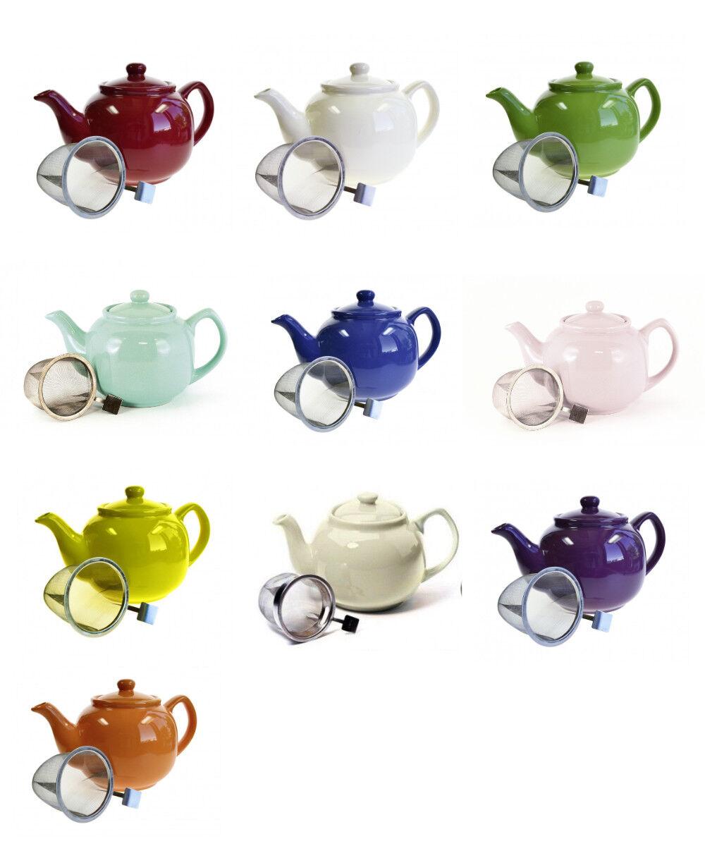 Teekanne Shamila® 1,2l Keramikkanne mit Edelstahlsieb