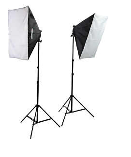 Photography Studio Backdrops and 2 Softboxes