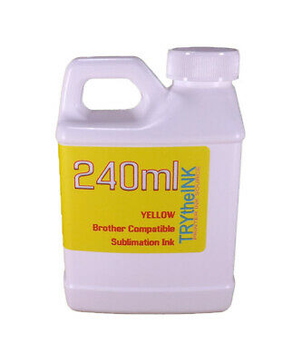 Dye Sublimation Ink Yellow 240ml Bottle For Brother Inkjet Printers