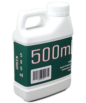 Green Dye Sublimation Ink 500ml Bottle Epson Stylus Pro Printers Non-oem