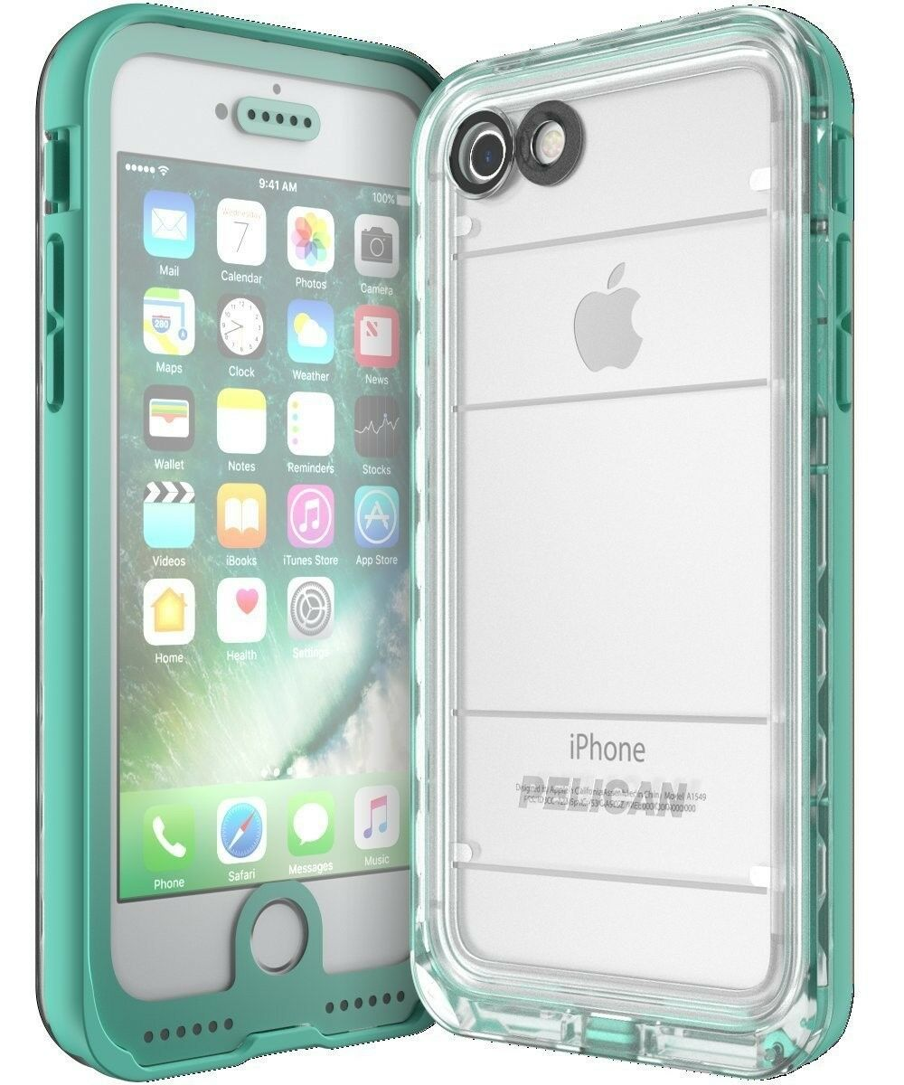 pelican-marine-waterproof-iphone-7-iphone-se-2-2020-case-teal-clear-brand-new