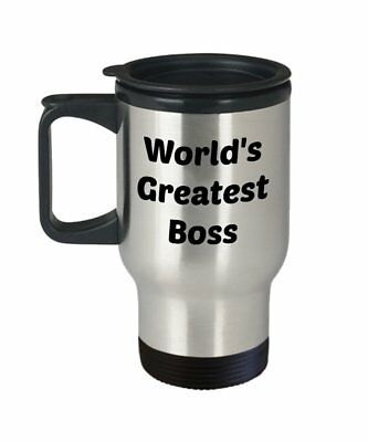 Worlds Greatest Boss Travel Mug - Worlds Best Boss Mug - Funny Tea Hot