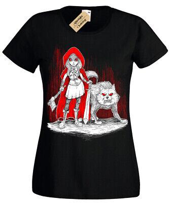 Dunkel Rotkäppchen T-Shirt Herren Böse Gothic Wolf Damen
