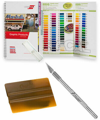 ORACAL Color Guide Chart Booklet, Hobby Weeding Knife, Squeegee (KIT)