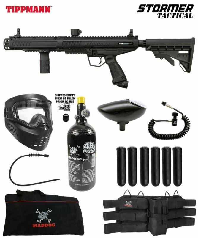 Maddog Tippmann Stormer Tactical Corporal HPA Paintball Gun Starter Package