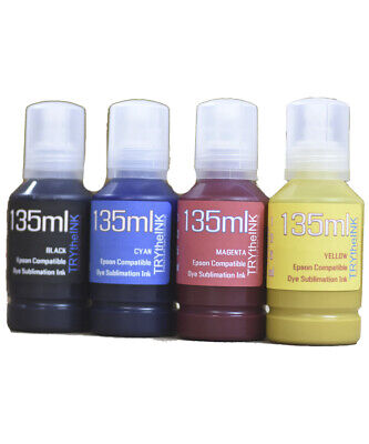 Dye Sublimation Ink 4- 135ml Bottles For Epson Surecolor T3170x Printer