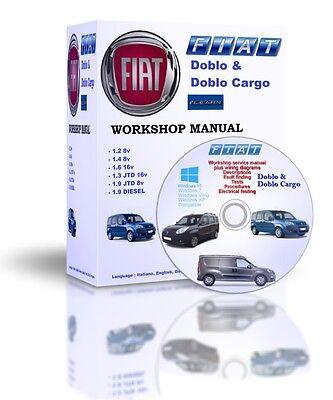 Fiat Doblo & Doblo Cargo Elearn Maintenance Workshop Manual DVD MULTILANGUAGE