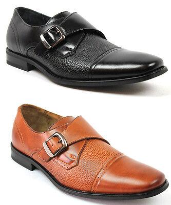 New Mens Ferro Aldo Dress Shoes Cap Toe Buckle Oxfords Leather Lining Modern