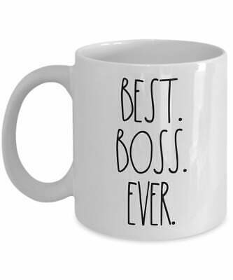 Gift Ideas For Boss Rae Dunn Inspired Best Boss Ever Mug Coffee Mug