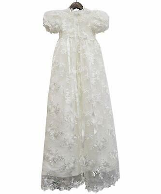Vintage Wedding Lace Christening Gowns Baby Baptism Dress Newborn Baby Dresses