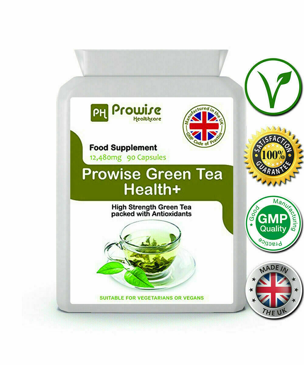 Green Tea Health+ 90 Cap 12,480mg Green Tea with Antioxidants UK Made