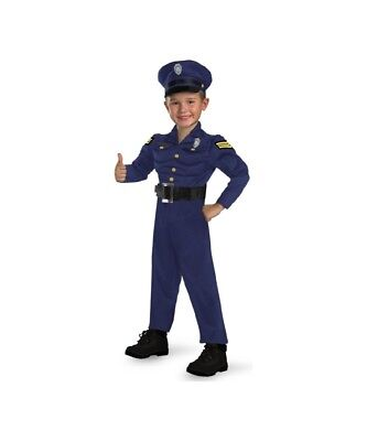Toddler Police Officer Costume Muscle Chest Child Size 2T - Officer Awesome (Awesome Toddler Costumes)
