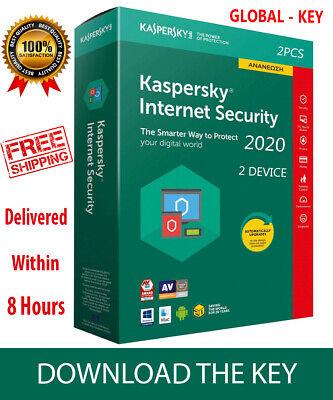 Kaspersky INTERNET Security 2020 GLOBAL KEY / 2 Device/ 1 Year /PC-Mac-Android , usado segunda mano  Embacar hacia Argentina