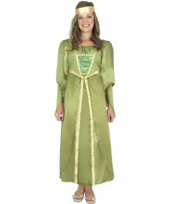 GIRLS SMIFFYS MAID MARION TUDOR MEDIEVAL MAIDEN FANCY DRESS COSTUME (Maid Dress)