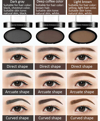 LEEZI Natural Brow Stamp Powder Perfect Eyebrow 3 Color 3 Shape for your choice