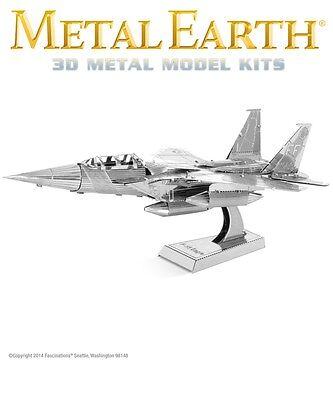 Fascinations Metal Earth F-15 Eagle Fighter Jet Plane Laser Cut 3D Model