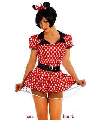 SEXY Minnie COMPLETO 6 pezzi topolina COSTUME Carnevale feste Party GLAMOUR
