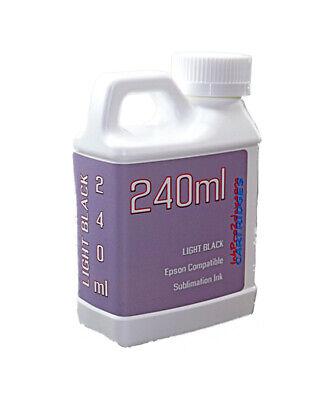 Light Black Dye Sublimation Ink 240ml For Epson 7800 7880 9800 9880 Non-oem