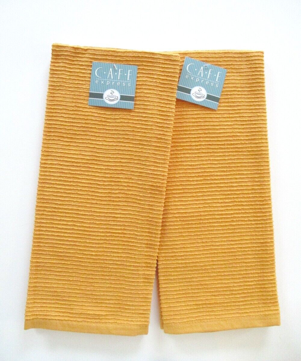 kitchen terry towels honey set of 2
