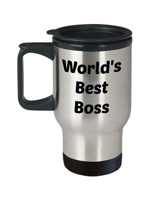 Worlds Best Boss Travel Mug - Gift for Office Boss - Funny Tea Hot