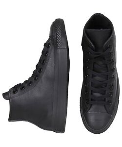 NEW-Converse-Leather-Hi-Blk-Mono-Shop-Mens-Clothing-Footwear