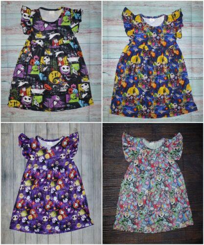 NEW Boutique Nightmare Before Christmas Jack Skellington Halloween Girls Dress