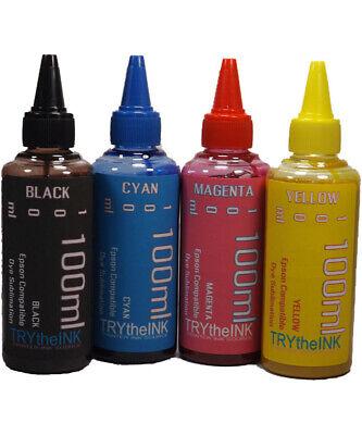 Dye Sublimation Ink 4- 100ml Bottles For Epson Xp-4100 Xp-4105 Xp-5100 Non-oem
