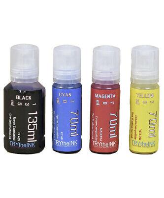 Dye Sublimation Ink 4 Bottles For Epson Et-2720 Et- 2760 Printers Non - Oem