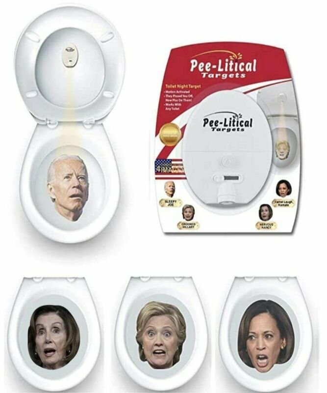 Pee-litical Target Toilet Light Projector (Joe Biden, Kamala, Hillary, Nancy)