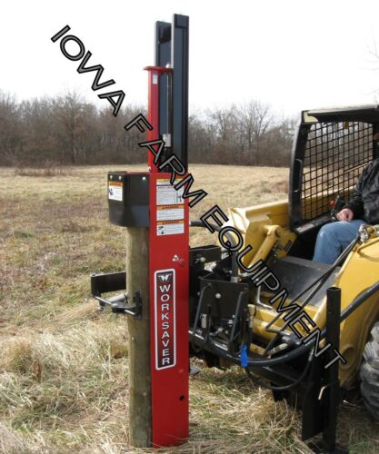 Post Driver, Post Pounder, Worksaver Hpd22qmss: 80klbs Force, Skidsteer, Mantilt