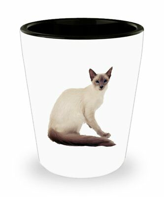 Balinese Cat Shot Glasses - Novelty Birthday Christmas Gag Gifts Idea - Birthday Shot