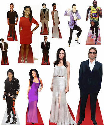 Celebrity Cardboard Desktop Cutout Stand 17 Inch Tall Real Stand Up Fold Neatly
