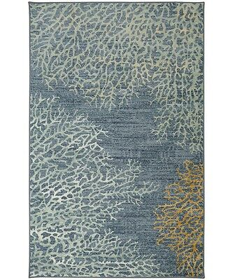 5x8 Sea Coral Tropical Beach Coastal Area Rug **FREE SHIPPING** ()
