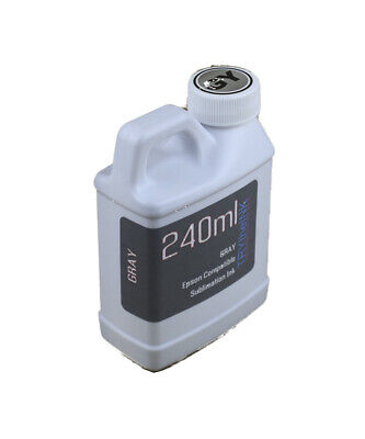 Gray Dye Sublimation Ink 240ml For Epson Expression Photo Xp-15000 Non-oem