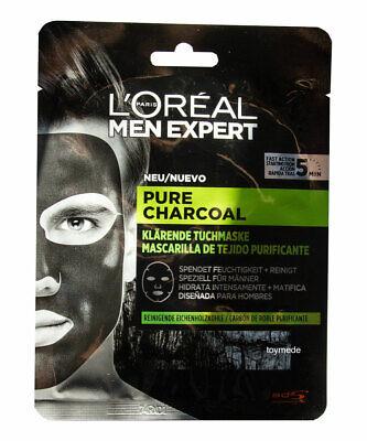 ert PURE CHARCOAL Tuchmaske SPEZIELL für Männer for men (Masken Für Männer)