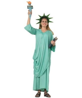 Women's Statue Of Liberty Costume USA July 4th Halloween United States America (Costume Of Usa)