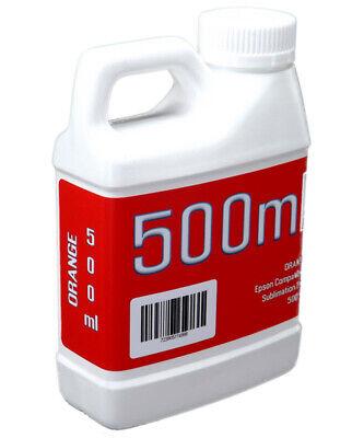 Orange Dye Sublimation Ink 500ml Bottle Epson Stylus Pro Printers Non-oem