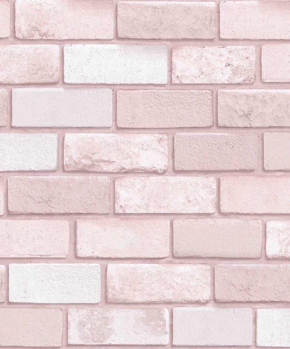 Arthouse Pastel Pink Diamond Brick Glitter Modern Girls Kids Wallpaper 260005