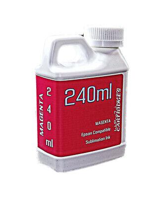 Magenta Dye Sublimation Ink 240ml Epson Workforce Pro Wf-7820 Wf-7840 Non-oem