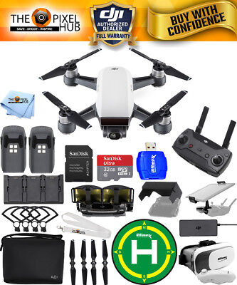 Dji Spark Fly More Combo  Alpine White    Extreme Accessory Bundle Brand New