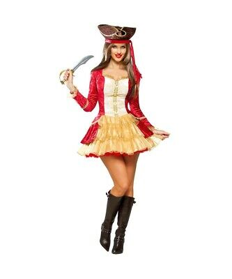 Womens Size Large (12-14) Goddessey Pirate Captain Adult - Goddessey Kostüm