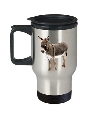 Baby Donkey Travel Mug - Funny Tea Hot Cocoa Insulated Tumbler - Novelty...