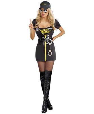 Get a Clue Police CSI Costume Dreamgirl 8881 sizes sm and lg