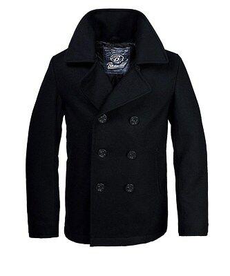 Wolle Peacoat Jacke (Brandit Herren Woll Mantel Pea Coat Winter Jacke Parka Caban Jacke Marine )